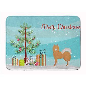 Bath mats rugs brown white elo dog christmas tree machine washable memory foam mat