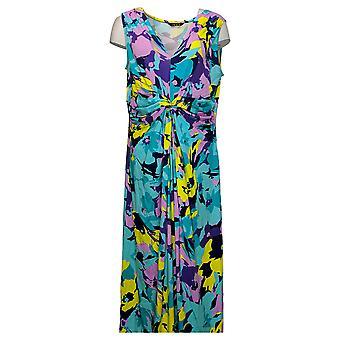 IMAN Global Chic Plus Kjole Fejlfri Strik Maxi Blue 751382