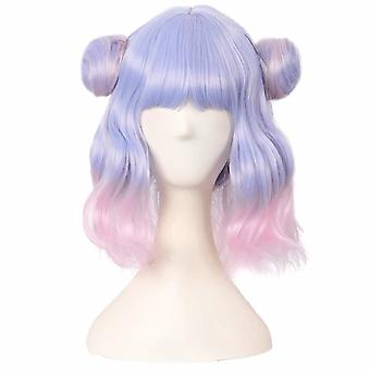 Lolita Synthetic Braided Short Curly Cosplay Anime Wig