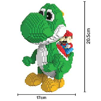 2000pcs Mario Mini Blocs Grande Taille de Modèle Yoshi Blocs Anime Diy