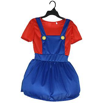 barn super mario gutter jenter cosplay kostyme fancy kjole fest antrekk