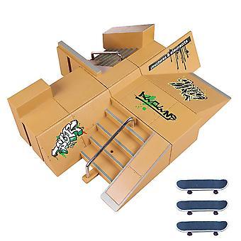 Finger Ramp Parts Skate Park Underhållning Leksaks kit