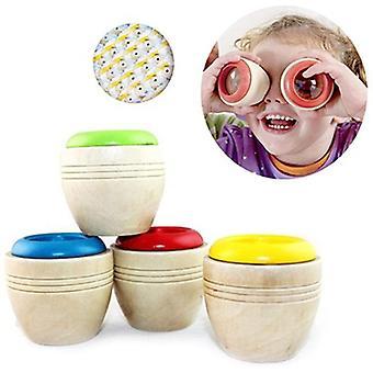 Kreative Baby Kinder Lernpuzzle Sensorisches Spielzeug Holz Pädagogisches Kaleidoskop