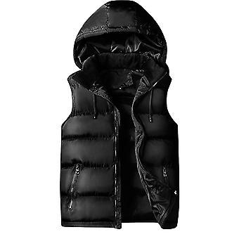 Allthemen Men's Padded Vest Slim Fit Sleeveless Jacket Removable Cap Waistcoat