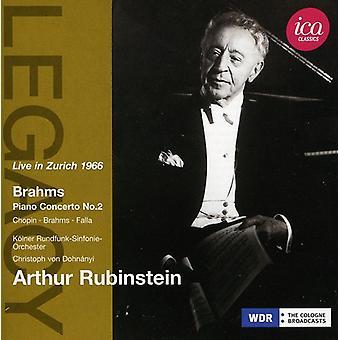 Brahms/Chopin/De Falla - Arthur Rubinstein Live in Zurich 1966 [CD] USA import