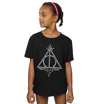 Harry Potter Mädchen Deathly Hallows Symbol T-Shirt
