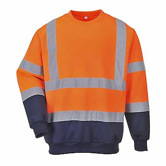 Portwest - dois tons Oi-Vis segurança Workwear moletom