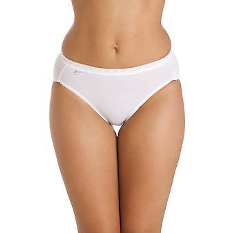Camille tre Pack cotone ricco Ciao gamba Slip In bianco