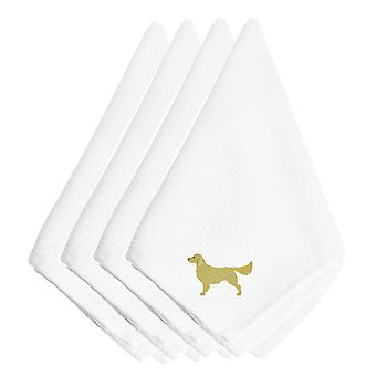 Carolines Treasures  BB3404NPKE Golden Retriever Embroidered Napkins Set of 4