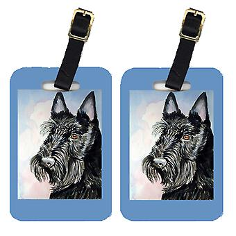 Carolines Treasures  7047BT Pair of 2 Scottish Terrier Luggage Tags