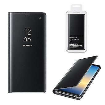Genuine Official Samsung Clear View Standing Flip Cover Case for Samsung Galaxy Note 8 - Black