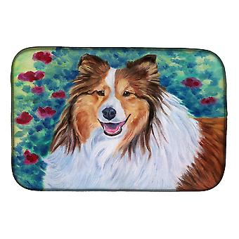 Carolines Treasures  7424DDM Sheltie Dish Drying Mat