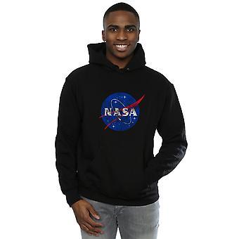 NASA mænds klassiske insignier Logo nødlidende hættetrøje