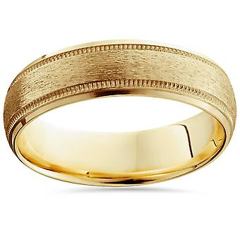 Mens 14K gull komfort passe 6mm giftering nytt Band