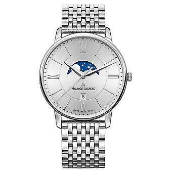 Maurice Lacroix Mens Silver Dial Silver Metal Strap EL1108-SS002-110-1 Watch