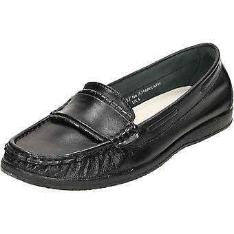 Comfort Plus Wide Fit Leather Loafer Moccasin Shoes