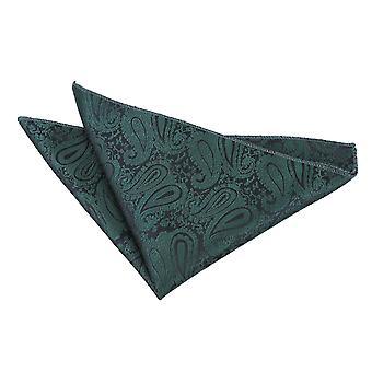 Esmeralda verde Paisley bolso quadrado