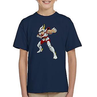 Saint Seiya Pegasus Kampf Pose Kinder T-Shirt