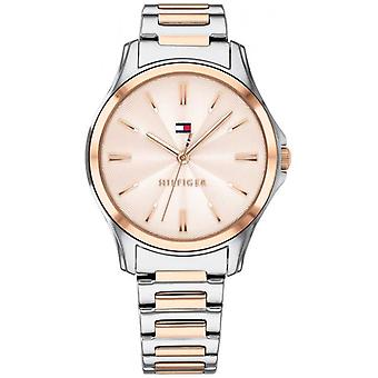 Tommy Hilfiger Women's Two Tone Rose Gold Plated Rose Gold Dial 1781952 Watch