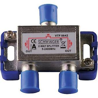 Schwaiger VTF8842 241 SAT splitter 2-way 5 - 2400 MHz