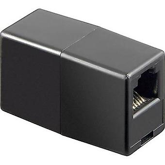 Goobay telefonadapter [1 x RJ11 6p6c socket - 1 x RJ11 6p6c socket] svart