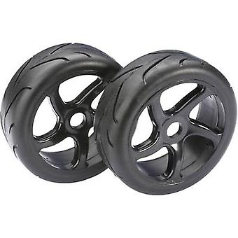 Absima 1:8 Buggy Wheels Street 5 kollu Siyah 2 pc(ler)