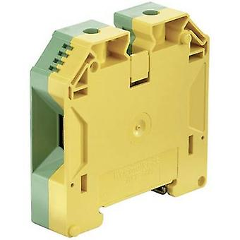 WPE protective conductor terminal blocks WPE 50N 1846040000 Green, Yellow Weidmüller 1 pc(s)