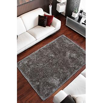Rug Shaggy Rugs squallido ad alta flora Fluffy Cozy Gloss Taupe Beige Grigio