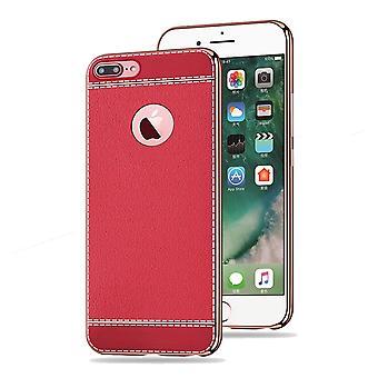Matkapuhelin tapauksessa Apple iPhone 7 plus suoja tapauksessa puskurin art nahka punainen