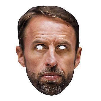 Gareth Southgate Engelse voetbaltrainer Single 2D kaart partij gezichtsmasker