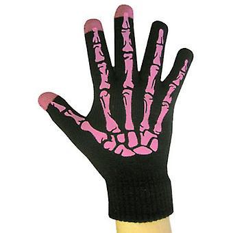 Boss Tech - brei Touchscreen handschoenen, Texting handschoenen, Tech handschoenen - zwart/roze
