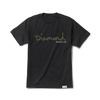 Diamond Supply Co OG Script T-shirt Black Green
