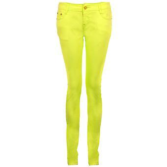 Stretch Pantalons Jeans jeggings Ladies fluorescentes Plaine Slim Fit Skinny Femmes