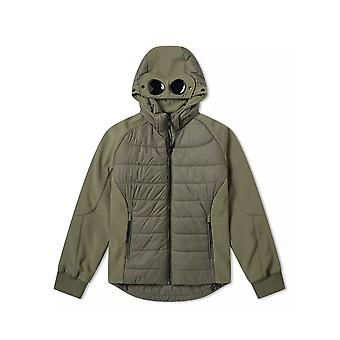 C.P. Company Undersixteen Sage Green Quilted Goggle Soft Shell Jacket