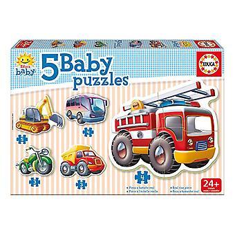 Educa Borras Baby pojazdów Jigsaw Puzzle 5 szt (14866)