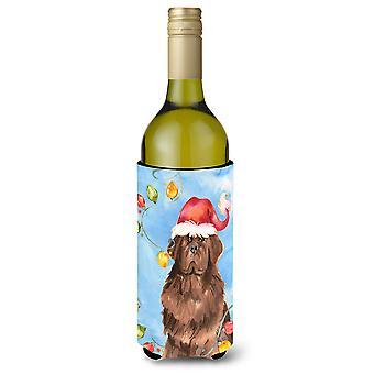عيد الأنوار نيوفاوندلاند زجاجة النبيذ المشروبات عازل نعالها
