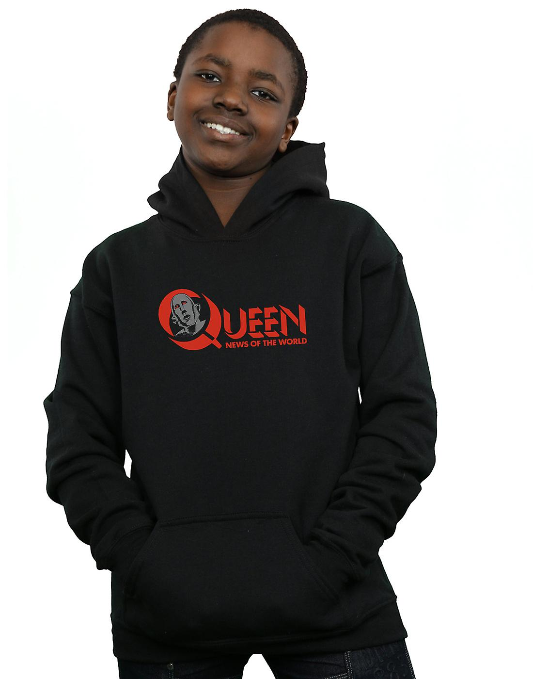 Queen Boys News Of The World Logo Hoodie