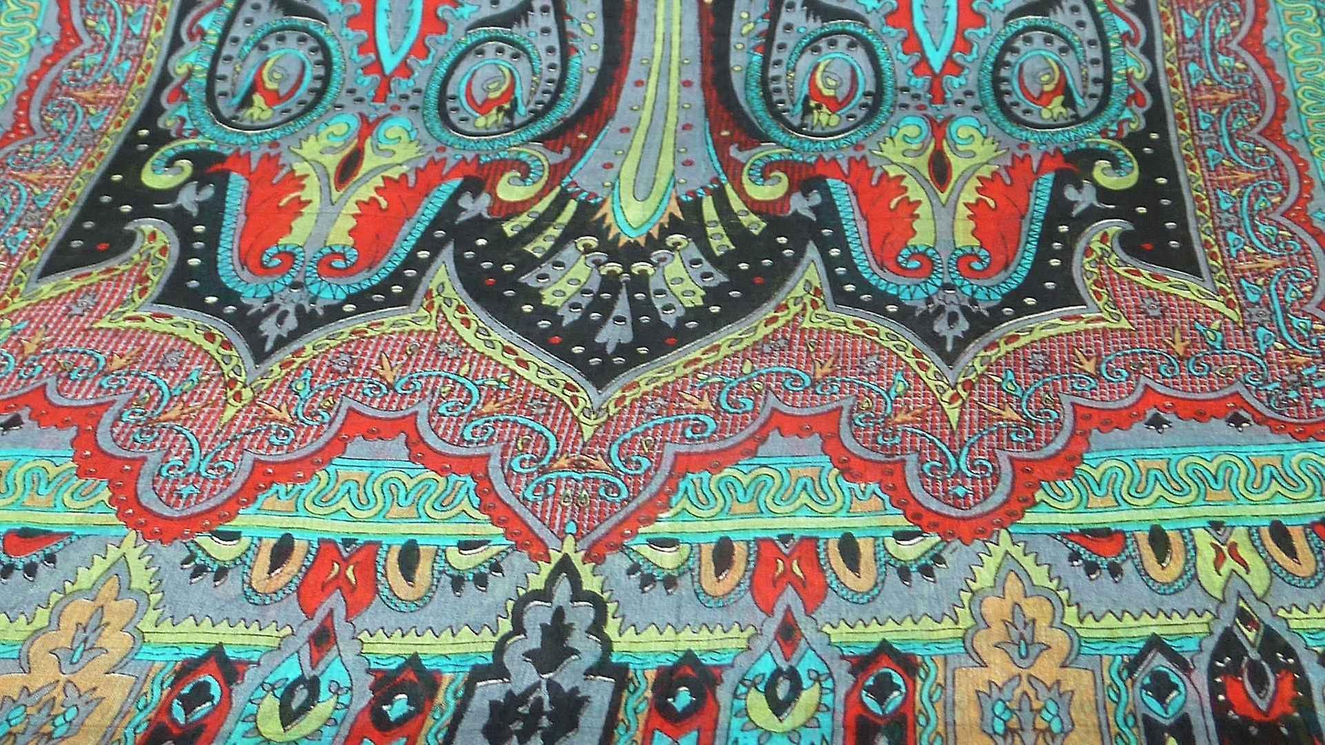 Mulberry Silk Traditional Long Scarf Chadar Black by Pashmina & Silk