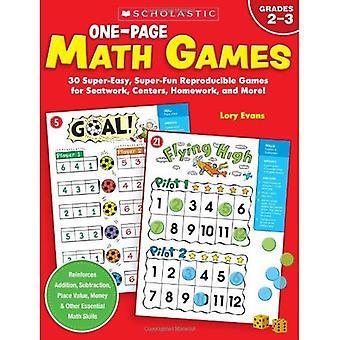 En sida matematik spel