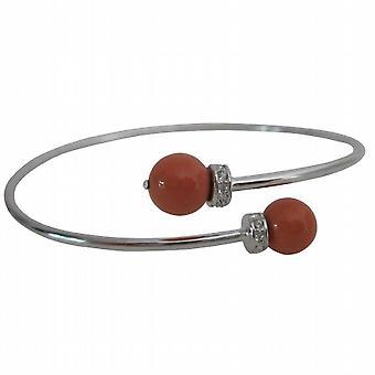 Orange koral Cuff armbånd efterår jul smykker