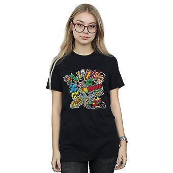 دي سي كوميكس المرأة المراهقة جبابرة ابدأ صديقها المونتاج روبن تناسب القميص