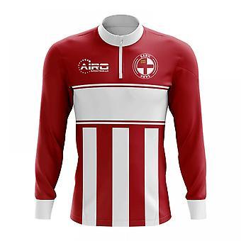 Sark Konzept Fußball Half Zip Midlayer oben (rot-weiß)