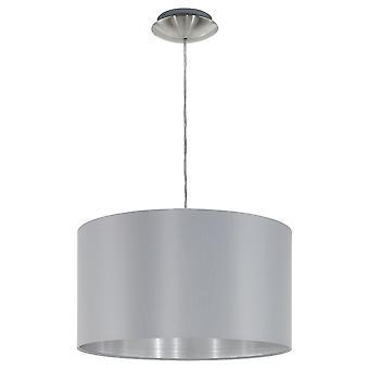 Eglo - Maserlo 1 luz colgante techo ligero satén del níquel gris EG31601