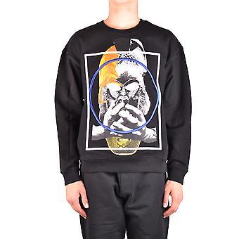 Mcq Door Alexander Mcqueen Ezbc053027 Men's Black Cotton Sweatshirt