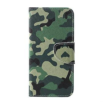 Samsung Galaxy S10e Brieftasche Fall-Camouflage Muster