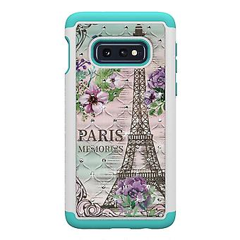 Samsung Galaxy S10e TPU-Skal Armor Extra Tåligt - Eiffel Tower and Flower