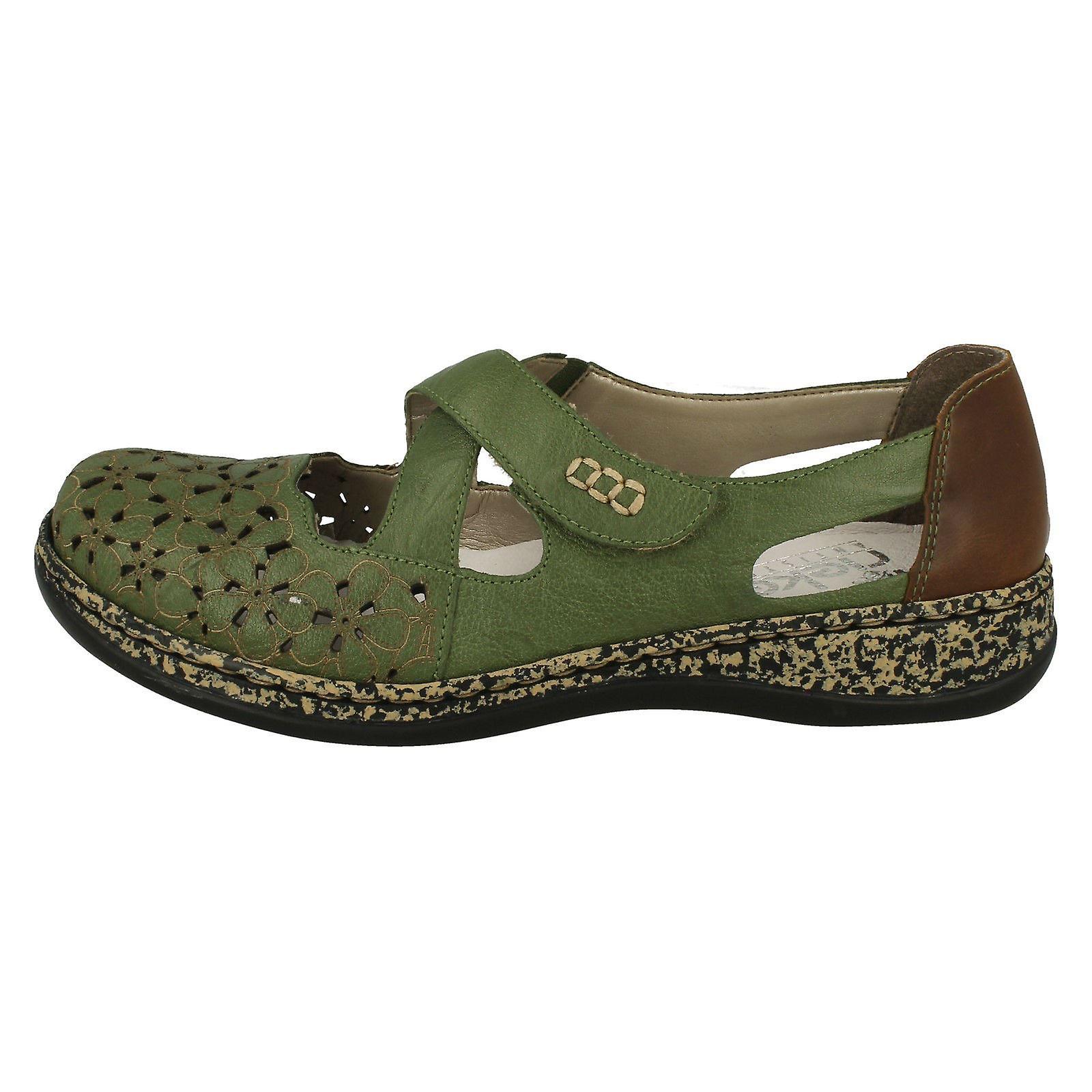 Mesdames Rieker Casual Flat Shoes 463H 4 - Remise particulière