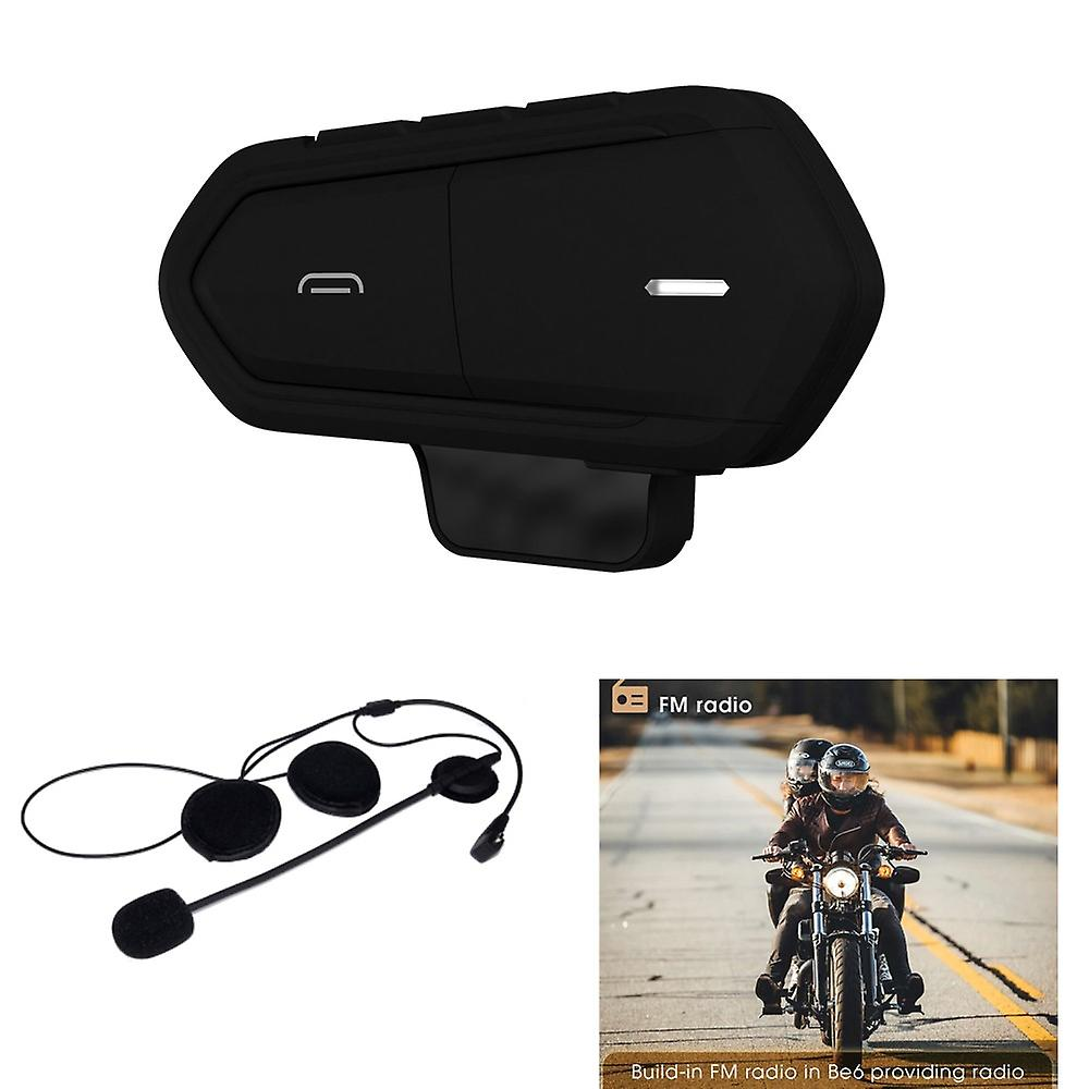 BE6 MC Motorcycle Ski Helmet Bluetooth Intercom Wireless-Black
