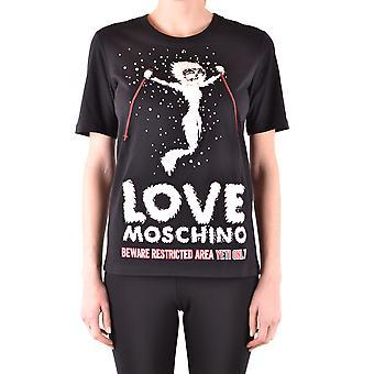 Love Moschino Ezbc061033 Women's Black Cotton T-shirt