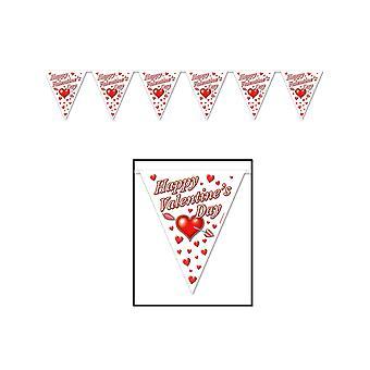 Feliz día de San Valentín banderín Banner